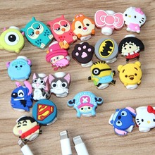 Kawaii 10pcs/lot Cartoon Usb Cable Protector Anti Breaking Protective Sleeve For Charging Cable Earphone Line