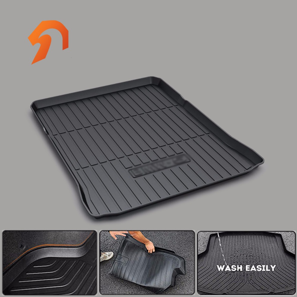 Rubber Rear Trunk Cargo Tray Trunk Cover Floor Mats FOR BMW 5Series 2017 G30 BOOT LINER REAR custom fit car trunk mats for nissan x trail fuga cefiro patrol y60 y61 p61 2008 2017 boot liner rear trunk cargo tray mats