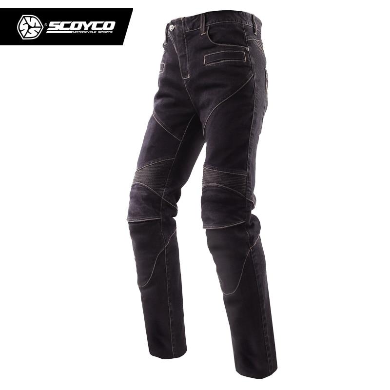 Scoyco P043 pantalon de course de moto très élastique résistant à l'usure pour hommes pantalons de Motocross avec plaquettes pantalon de Sport Jeans moto