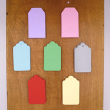 Candy Colors 4x7cm Gift Paper Tag Party Paper Hang Tags Wedding DIY Paper Cards 350pcs Sewing Supplies Garment Tags
