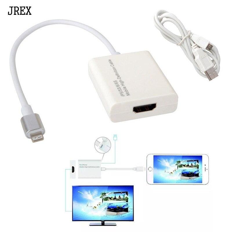 imágenes para 8 pin Relámpago Al Adaptador del HDMI Cable HDMI Cable Para Apple Para Iphone 6 5S SE 7 6 s Plus Ipad 1080 P HDTV TV Adaptador conector