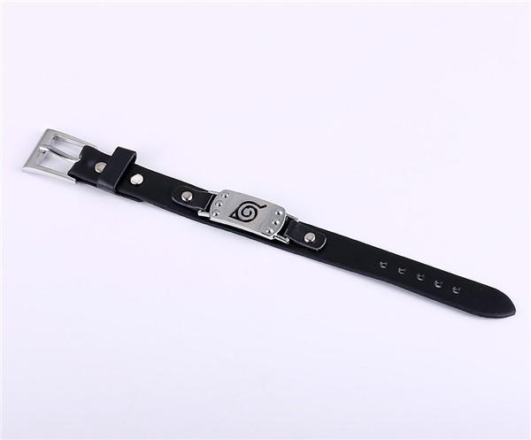 Naruto Konaha Logo Leather Bracelet