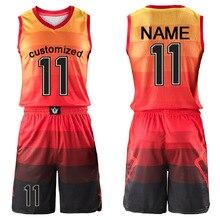 Настраиваемый Мужской Детский женский баскетбольный тренировочный Комплект Джерси пустой тренировочный костюм для колледжа Молодежный унисекс баскетбольная форма костюм