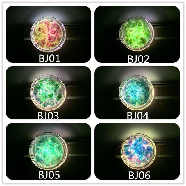 1box/0.15g Transparent Chameleon Flakes Multichrome Nail Powder Bling Nail Flecks Powder Shimmer Nail Art Glitter Glitter Powder