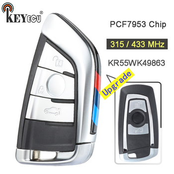 KEYECU 315/433/868 MHz PCF7953 チップ CAS4 +/FEM KR55WK49863 アップグレード 3 ボタンリモコンキー Fob bmw 1 2 3 4 5 6 7 シリーズ X3 M2