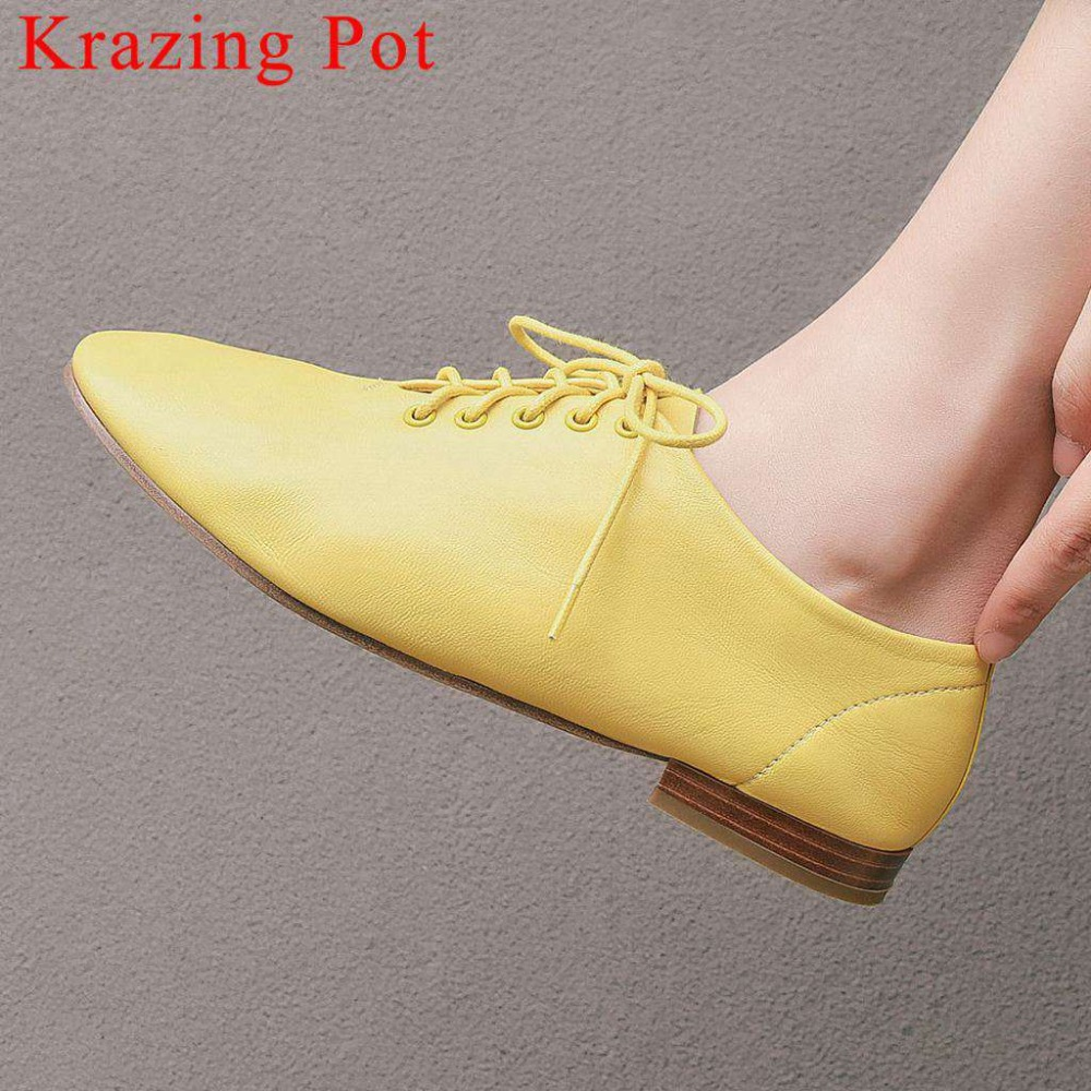 2019 comfortable daily wear lace up genuine leather low heels hand-sewn leather loafers vintage driving shoes dating pumps L012019 comfortable daily wear lace up genuine leather low heels hand-sewn leather loafers vintage driving shoes dating pumps L01