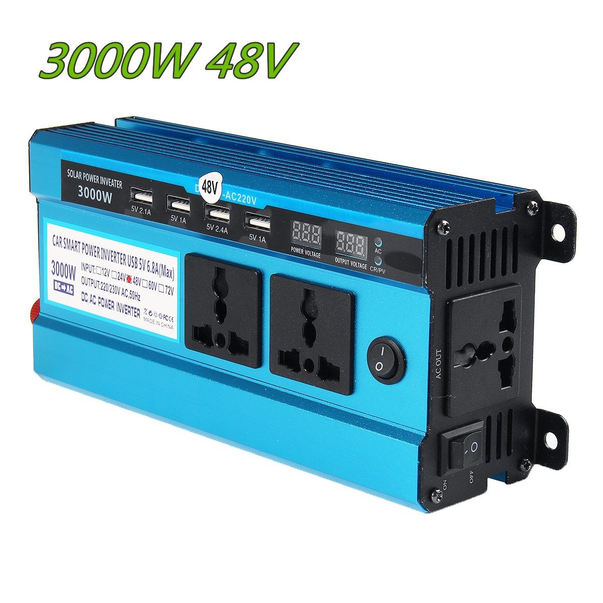 Solar Inverter DC 12V 24V 48V to AC 220V 3000W 4000W 5000W Inverter 18