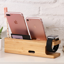 2 in 1 Wood Stand For iPhone And Apple Watch