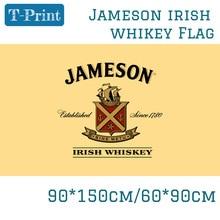 3x5 футов 90*150 см 60*90 см Jameson ирландский виски полиэстер флаг для украшения дома и офиса Вечерние