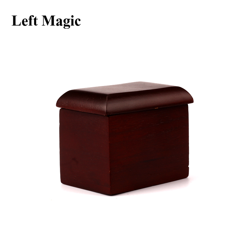 Mystery Box By John Kennedy Magic Trick Card To Wooden Box Close Up Magic Street Disappearing Stage Magic Props Illusions Comedy