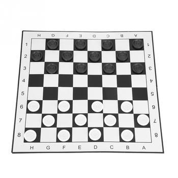 Przenośne plastikowe międzynarodowe warcaby składane deska gra w szachy szachownica gry planszowe do imprez rodzinnych tanie i dobre opinie VBESTLIFE Z tworzywa sztucznego 5 lat Plastic Szachy warcaby Checkers Set Other