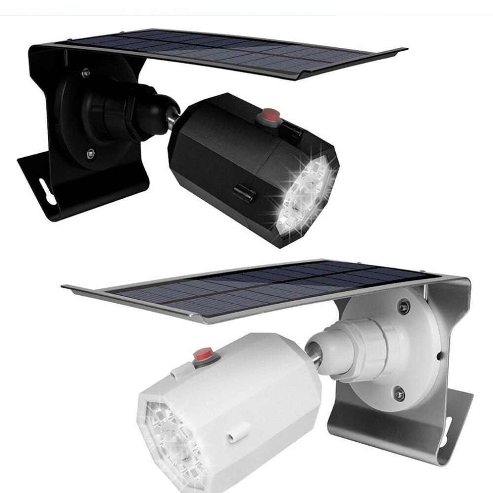 2 LED Solar Power PIR Sensor Wandleuchte Draussen Wasserdicht Garten Lampe
