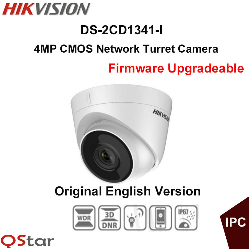 Hikvision Original English CCTV Camera DS-2CD1341-I replace DS-2CD2345-I 4MP Turret IP Camera POE IP67 30m Firmware Upgradeable 10pcs lot multi language hik ip camera ds 2cd2345 i replace ds 2cd2335 i 4mp poe 1080p ir night vision cctv security ip camera