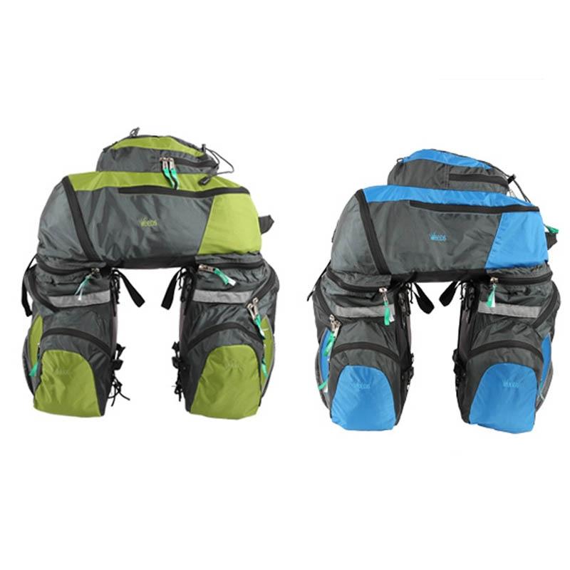 65 L Waterproof Bike Bicycle Bag Double Side Rear