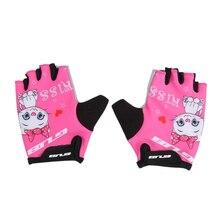 Gub на открытом воздухе регулируемые летние детские велосипедные перчатки без пальцев перчатки Нескользящие дышащие защитные перчатки для катания на коньках езда на велосипеде S
