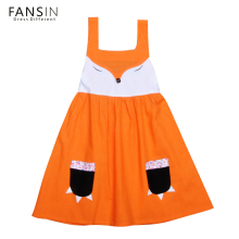 Fansin Cartoon Fox Dress Baby Girls Dresses Summer Sleeveless Children Kids Clothes Casual Girl Clothing Party Costume Formal