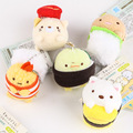 Peluche San-x felpa juguetes Anime Sumikko gurashi Sushi colgantes de mini muñecos de peluche lindo oso gato cerdo para el regalo envío gratis