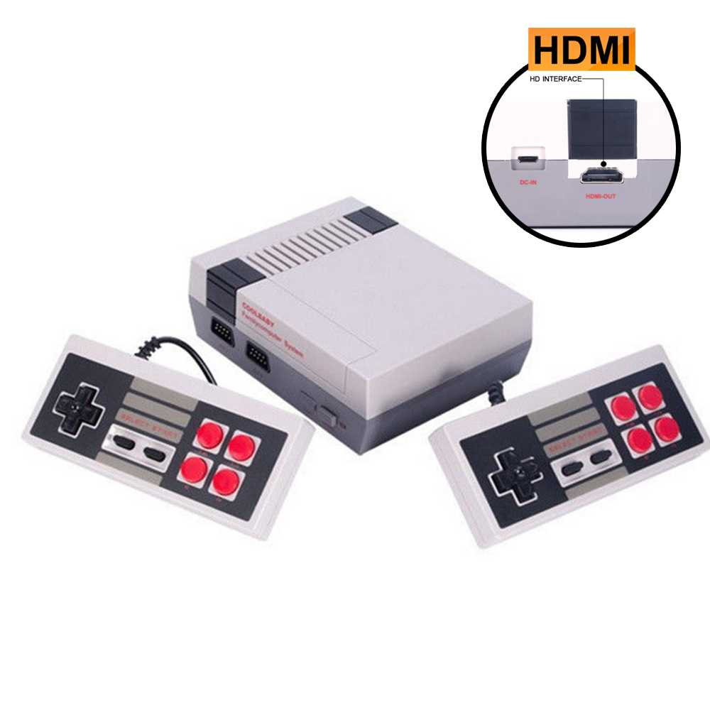 Mini Vintage Retro HDMI Interface TV Game Consoles Classic Family Mini Game Host 2 Handle Controllers Built in 500 Games US Plug