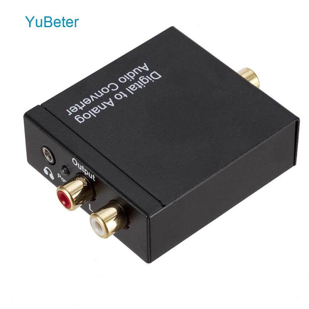 Yubeter Digital Zu Analog Audio Converter Dac Verstärker Decoder Optical Coaxial Toslink Spdif Audio Rca Signal Zu Analog L/ R 3,5 Moderater Preis Tragbares Audio & Video