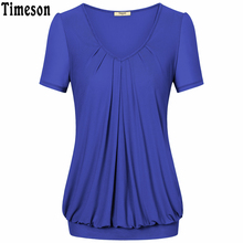 Timeson 2017 Summer Short Sleeve Blouses Women Fashion Clothing Feminine Loose Casual Shirt Ladies Tops Clothes For Female