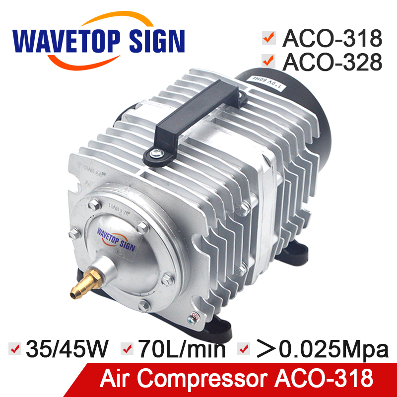 HAILEA Air Compressor Electrical Magnetic Air Pump for CO2 Laser Engraving Cutting Machine ACO-318 35/45W ACO-328 55W