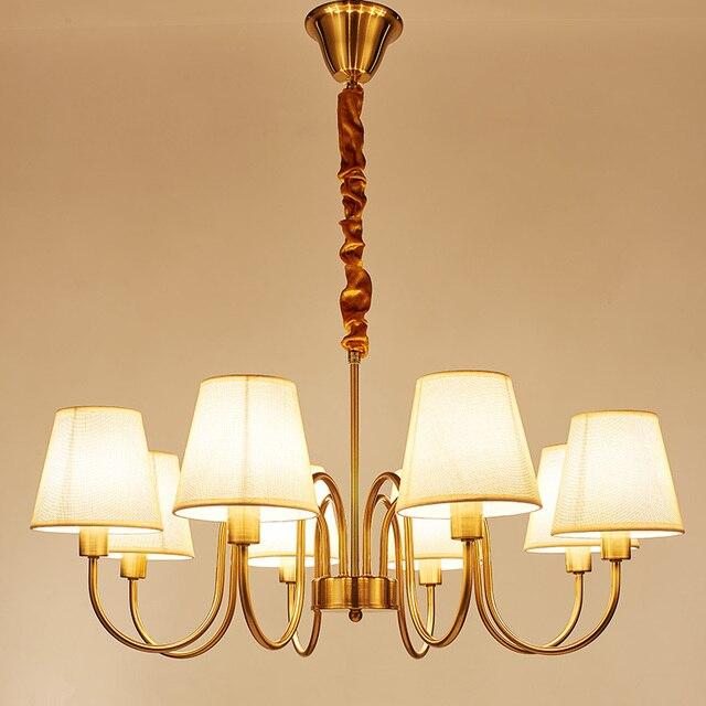 Led Pendentif Lampe 3 5 6 8 10 Bras Led Lustre Tissu Ombre Pour