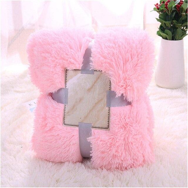 Genuino Cristal de terciopelo color sólido invierno/niños manta sofá ...