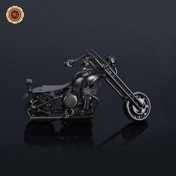 Maqueta de Metal hecha a mano motos de hierro maquetas de Metal para Bar y decoración del hogar recuerdo