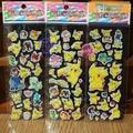 3Sheets random Poken 3D Stickers Foam Cartoon Poke Model Poke ball Toys Kawaii cute Pikachu Chrismas Gift For Children Kids
