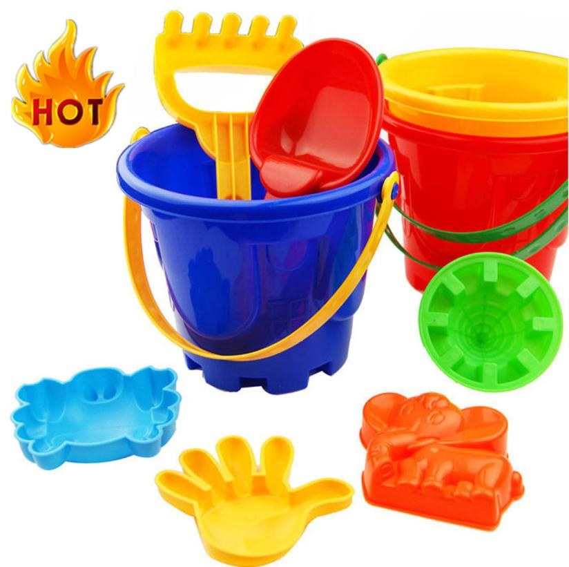 7Pcs Sand Sandbeach Kids Beach Toys Castle Bucket Spade Shovel Rake Water Tools Cherryb