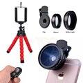 7in1 Kit Lente Da Câmera Para Lentes Grande Angular de Telefone Celular Smartphone lentes macro para iphone 5s 6 6 12.5x s 7 com grampos tripé