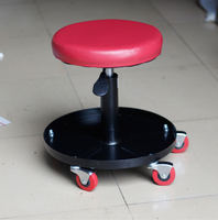Red Pneumatic crepper seat,Adjustable Height Reference Sooper Atmospheric Perssure Swivel Chair With Wheels MO 603