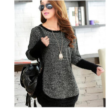 2017 Winter Fashion Women Sweater Female O-neck Long Sleeve O-Neck  Mohair Patchwork Pullover Casual Loose Sweaters Pull Femme