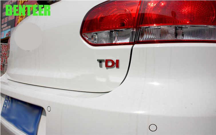 3D ABS TDI z tyłu samochodu naklejki na Audi marki Volkswagen Phaeton nowy-Beetle POLO Golf GTI R VW CC