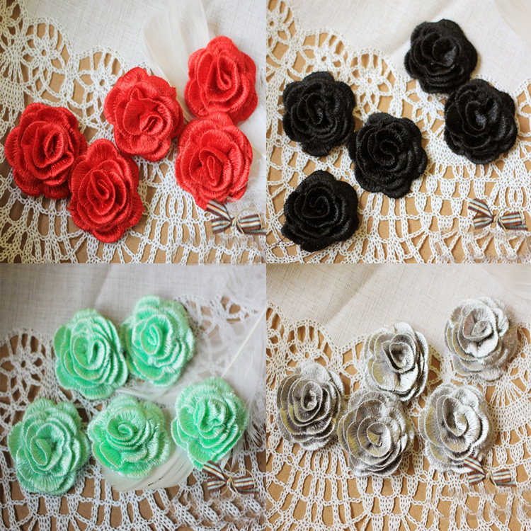 20pcs 28*11cm wide ivory bridal wedding embroidery lace appliques patches for dress skirt clothes L24L18 free ship