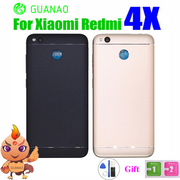 Original Rear Back Housing For XIAOMI Redmi 4X Back Cover Battery Door With Volume Power Button Camera Lens Replacement Parts
