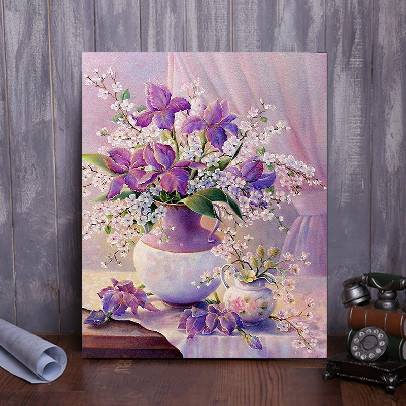 5D DIY Full Diamond Painting Modern Style Flowers Mosaic Making Children Cross Stitch Diamond Embroidery Home Decoration