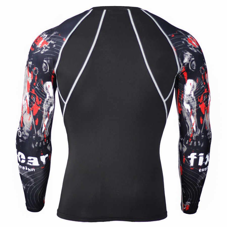 2018 última camiseta de manga larga con estampado 3D para hombre Fitness Bodybuild para encontrar camisa de marca conjunto de disfraces envío gratis