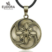 Eudora 20mm Copper Petals Style Harmony Bola Ball Pendant Necklace Chime for Pregnancy Women Baby Vintage Fine Jewelry B339