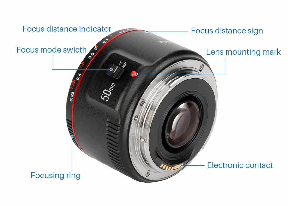 YONGNUO YN50mm F1.8 II duża przysłona automatyczne ustawianie ostrości obiektyw do modeli canon, mały obiektyw Bokeh efekt obiektywu dla EOS 70D 5D2 5D3 lustrzanka cyfrowa