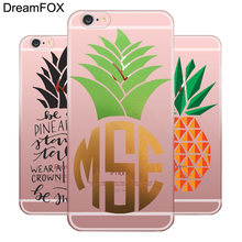 DREAMFOX L075 Pine apple Мягкий силиконовый чехол из ТПУ для apple IPhone X XR XS Max 8 7 6 6 S Plus 5 5S SE 5C 4 4s(China)