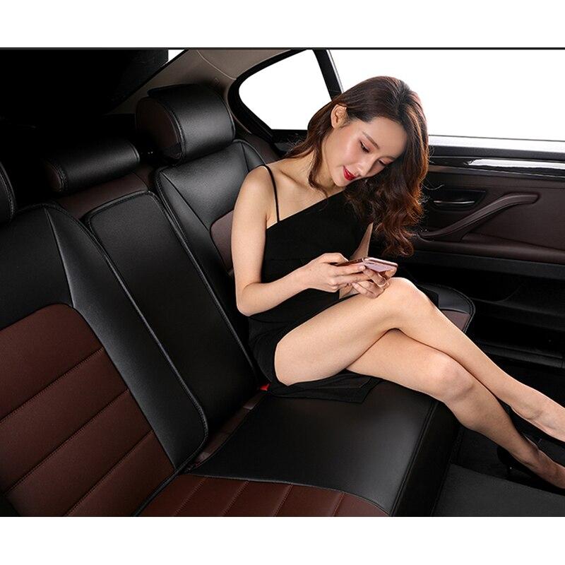 Housse de siège auto en cuir synthétique polyuréthane kokololee pour fiat punto renault logan hyundai solaris skoda octavia a3 a5 accessoires de voiture