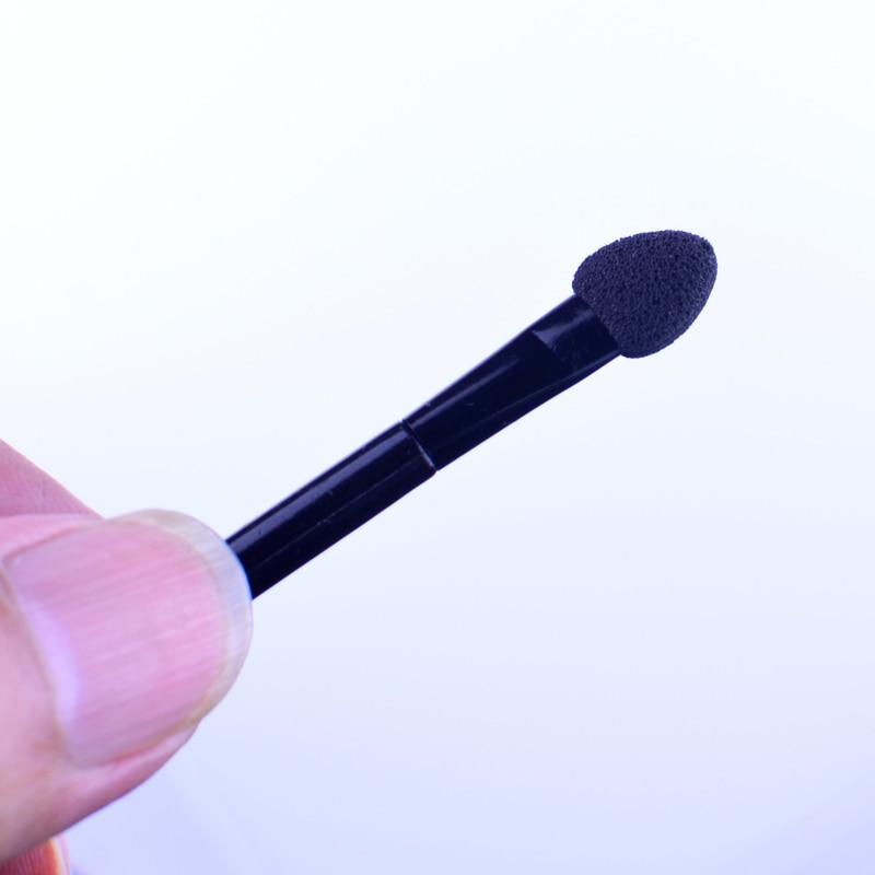 10pcs Eyeshadow Eyeliner Brush Sponge Disposable Dual Sided Tipped Oval Makeup Applicator Set