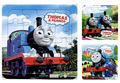 3Pcs/Lot 14*14*1.8cm Hot Cartoon Paper Jigsaw Puzzles Toys For Children Thomas train Kids Educational Toy 2+ Years GYH