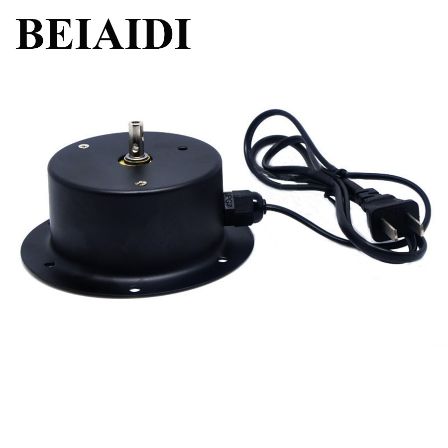 BEIAIDI 2.5 RPM Glass Rotating Mirror Disco Ball Motor AC220-240V Motor DJ Mirror Reflection Ball Hanging For Christmas New Year