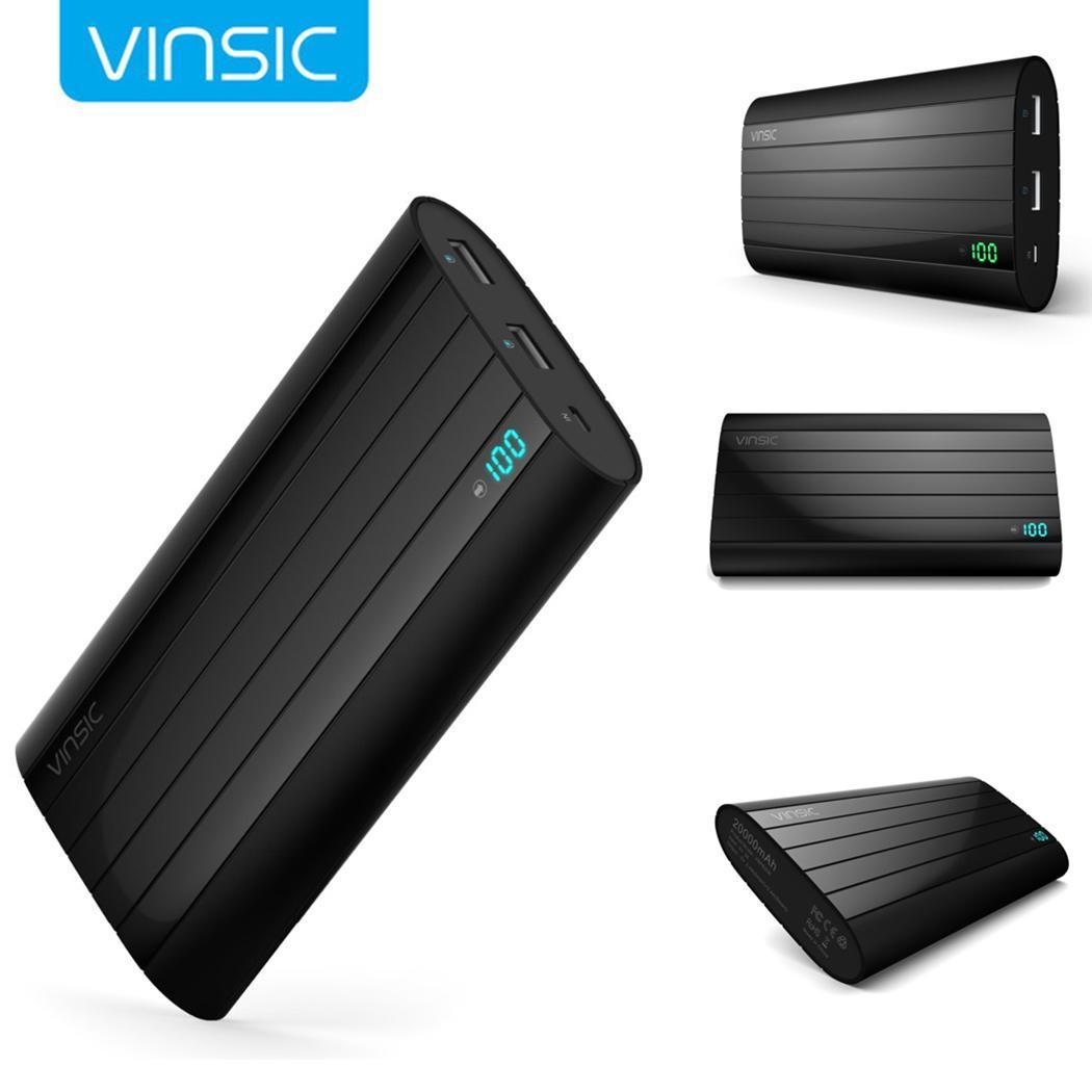 20000 mAh Portable batterie externe double USB externe chargeur de batterie Mobile PowerBank affichage numérique pour iPhone Xiaomi