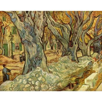 canalization works by Vincent Van Gogh Oil paintings reproduction Landscapes art hand-painted home decor