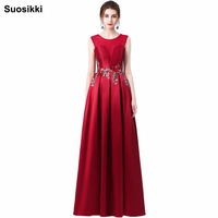 New Arrival Elegant Party Dress Evening Dresses Vestido De Festa Appliques Gown See Through Opening Back