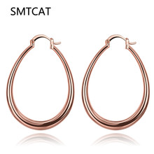 SMTCAT Big Geometry Brand Earrings For Women Trendy Fashion Jewelry Gift font b Gold b font