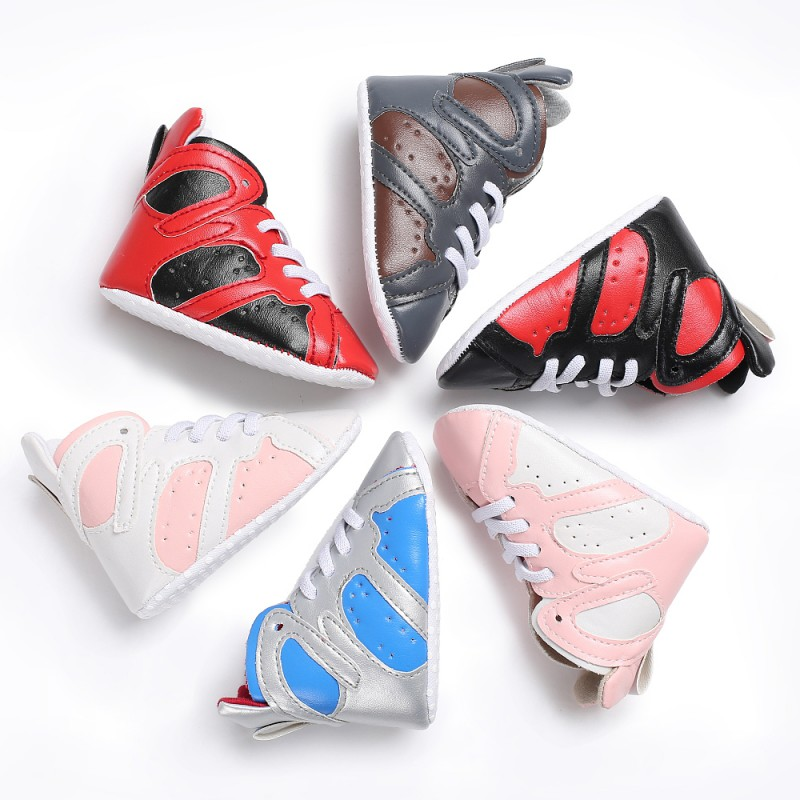 PU Baby Boys Girls Casual Stitching Shoes Soft Sole Anti-slip First Walker ...